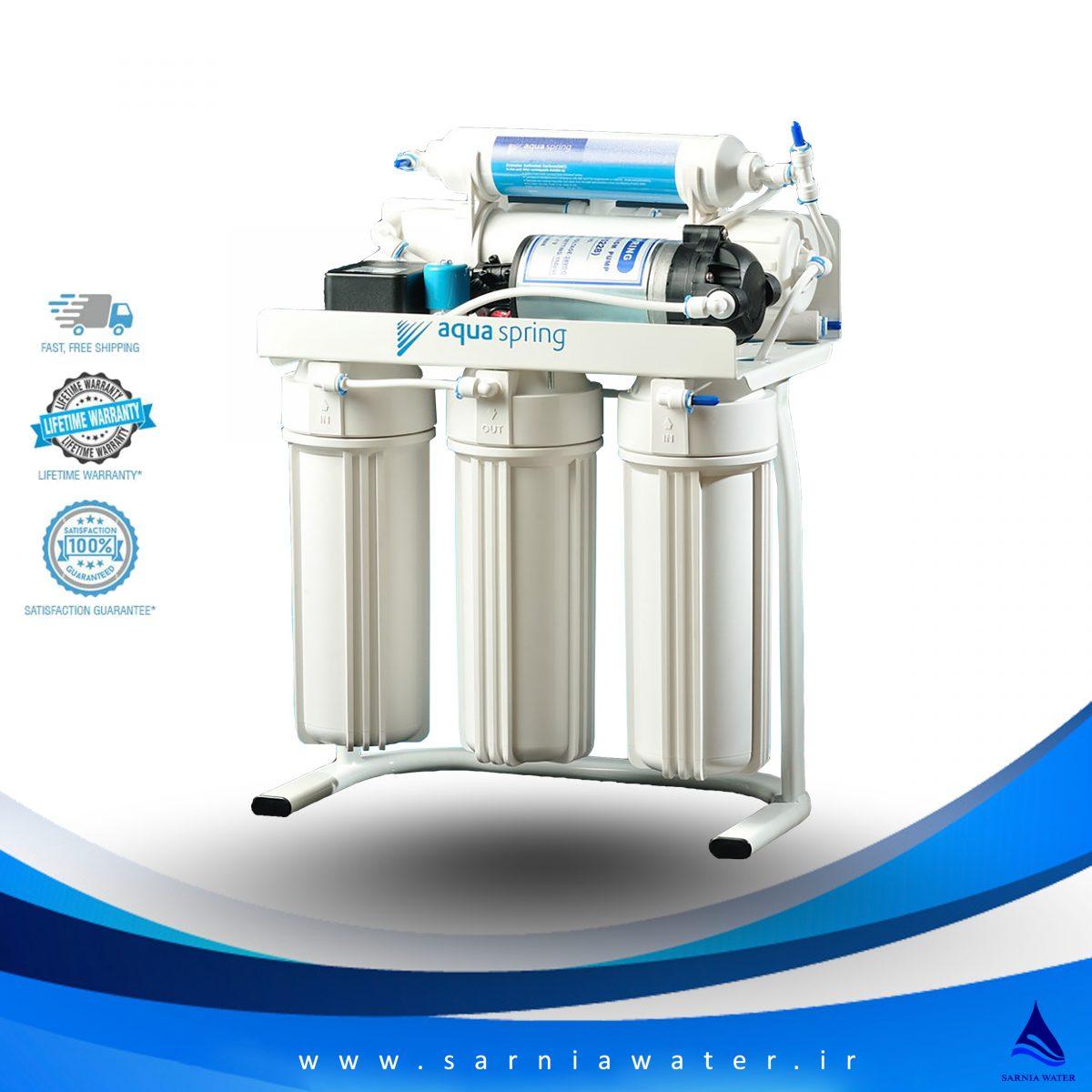 دستگاه تصفیه آب آکوا اسپرینگ - دستگاه تصفیه آب خانگی - دستگاه تصفیه آب
